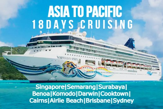 Asia to Pacific cruise