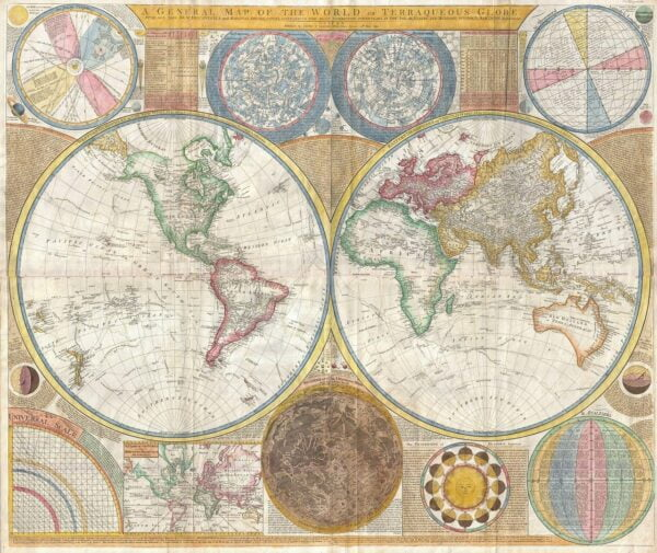 map of the world, continents, globe